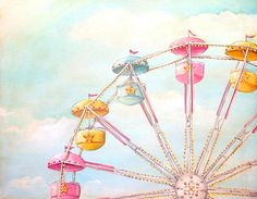{Reminds me of the Ferris Wheel in Sweethaven} Ferris Wheel print matted ready to frame M by Everyday is a Holiday