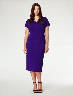 Marina Rinaldi DUBAI china blue: Fitted sheath dress.