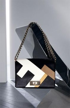 Killer graphic print. Fendi handbag.