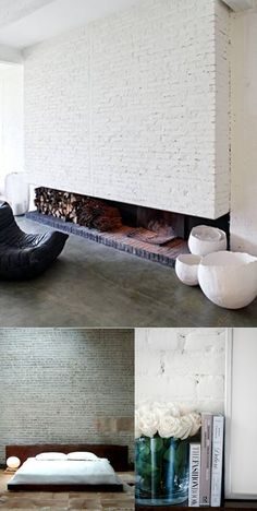 bricks white / ladrillo blanco / wall / pared