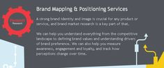 A strong brand identity and image is crucial for any product or service, and brand market research is a key part of that.  http://www.redshiftresearch.co.uk/services/brand_mapping_and_positioning
