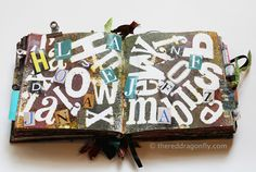The Red Dragonfly - Art Journaling: Journal Pages ... Words