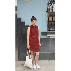 Completely obsessed with this rusty red color lately. @__lbmadeit__ totally nailed this Alder, and won't it transition beautifully to autumn too? Might be copying this!⠀⠀ ⠀⠀ #grainlinestudio #aldershirtdressgrainlinestudiograinlinestudio,aldershirtdress