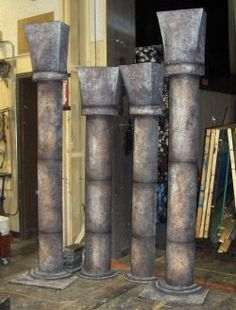 Gothic pillars these are a bit plain but look great I