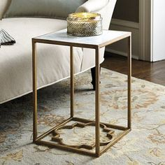 gold quatrefoil coffee table