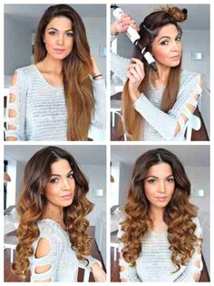 Her curls are gorgeous  Full how-to get wavy curls on her blog