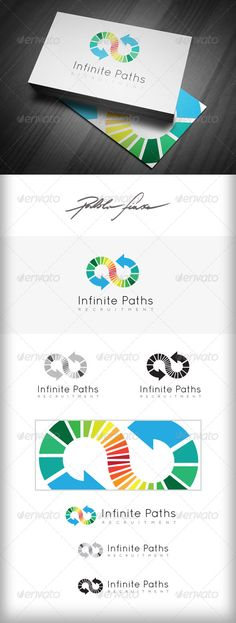 Recruitment Logo  Infinity Logo  Infinite System — AI Illustrator #infinite systems #Search engine logo • Available here → graphicriver.net/...