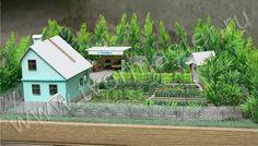 Макет участка в детском саду Cabin, House Styles, Plants, Home Decor, Decoration Home, Room Decor, Cabins, Cottage, Plant