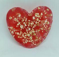 Handmade Bubblegum scented soap, heart shaped, bar by Heaven Senses by HeavenSenses on Etsy