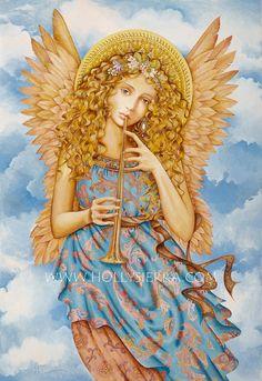 Renaissance Angel  A Fine Art Greeting Card by HollySierraArt