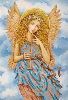Renaissance Angel A Fine Art Greeting Card by HollySierraArt