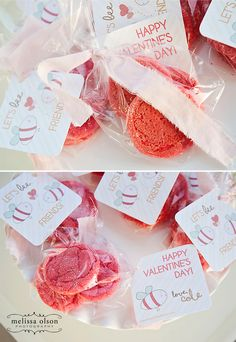 Valentine's Day treat tags for school parties!