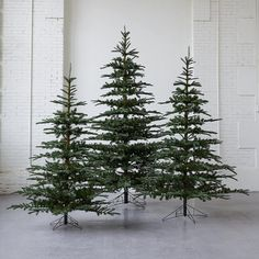 faux noble fir from Terrain - Love these realistic looking #fauxchristmastrees