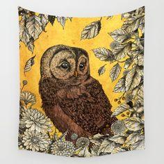 Tawny Owl Tapestry