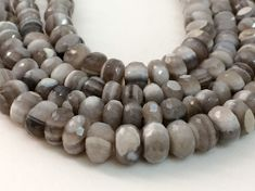 Boulder Opal Beads Grey Boulder Opal Faceted by gemsforjewels
