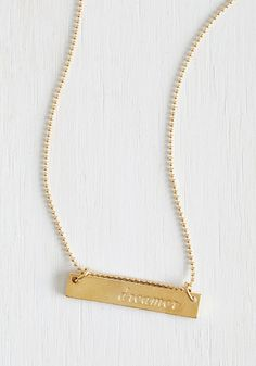 License to Dream Necklace.  #gold #modcloth