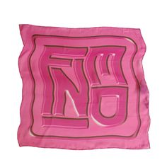 Fendi pink silk scarf with tags.   From a collection of rare vintage scarves at https://www.1stdibs.com/fashion/accessories/scarves/ @1stdibscom @Fendi #fashion #scarf