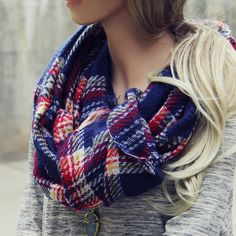 Sweater Weather Plaid Scarf, Cozy Knit Scarves from Spool 72. | Spool No.72