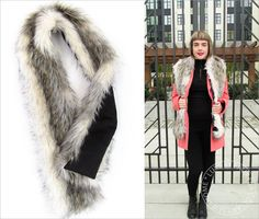 Luxury Faux Fur Collar/ stole Sewing Tutorial created for Fabric Depot @fabricdepot -  by @sew4home Sew4Home | Transform Your Space. Features our Island Raccoon Faux Fur http://www.shannonfabrics.com/faux-fur/specialty/island-raccoon-fur-charcoal-beige and you could use our Cuddle Suede on the back