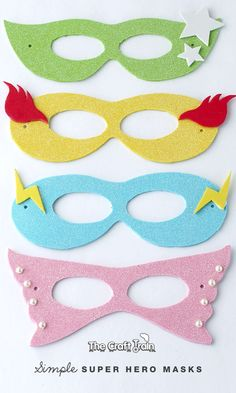 Diy Superhero Mask Fresh Simple Super Hero Masks with Printable Template - Masken Basteln Kinder Superhero Mask Template, Crafts For Kids, Arts And Crafts, Super Hero Costumes, Super Hero Masks, Craft Projects, Sewing Projects, Craft Ideas, Superhero Party