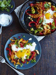 Charred avo & eggs