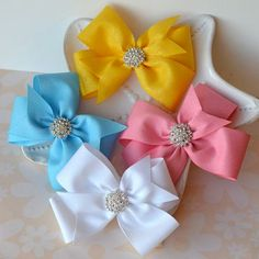 Sparkly Princess Pinwheel Bow Perfect for Disney Trips or Princess Dresses- Cinderella, Belle, Sleeping Beauty or Wedding