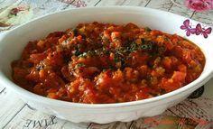 Sugo+al+pomodoro+fresco+e+verdurine