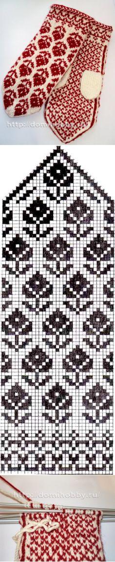 Варежки с жаккардовым узором Crochet Mittens, Knit Crochet, Fair Isle Knitting, Knitting Stitches, 2 Colours, Mosaic, Projects To Try, Arts And Crafts, Kids Rugs