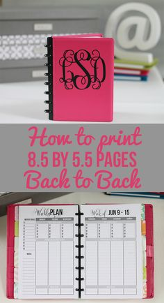 Hi, I have kicked off the How to Create Your Own Planner series with one of the most requested it. I'm covering in detail how to print 8.5 by 5.5 ...
