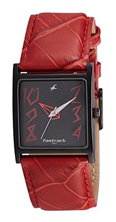 Fastrack Analog Black Dial Women's Watch - http://brandedstore.in/product/fastrack-analog-black-dial-womens-watch-nb9735nl01/