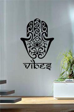 Hamsa Hand Version 11 Design Decal Sticker Wall Vinyl Decor Art