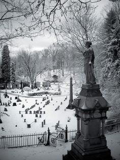 Guardian of the Gate - Photo of the Abandoned Mount Rose Cemetery