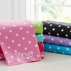 Brighten your morning with Dottie Sheet Sets in 8 colors. PBteen $31.99-$99