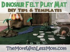 diy play rugs and play mats | Dinosaur Felt Play Mat - DIY Tips and Printable Templates from The ...