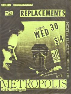 The Replacements gig poster