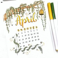 Happy April 1st! Amazing April cover page by Umran of @couleursduvent . . . . . . #bujojunkies #bujoaddict #bujo #bujocommunity…
