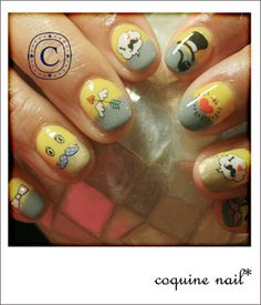 coquine nail* おひげネイル。