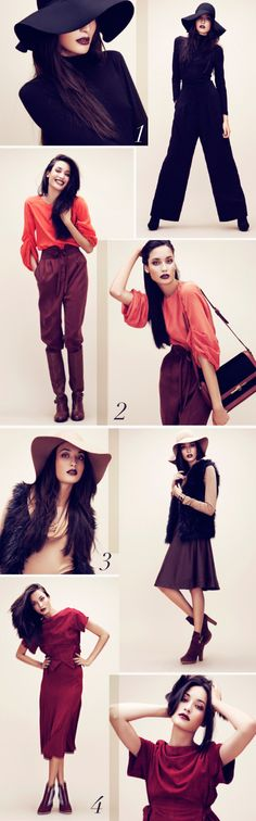 The 70's are everywhere... note the big floppy hats and wide leg trousers. The only thing that is missing is one of my new Disco Inferno bags to add a real sense of 70's glamour! xx