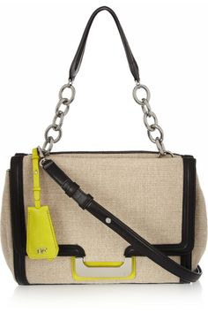 Harper Charlotte linen and leather shoulder bag by Diane von Furstenberg £185