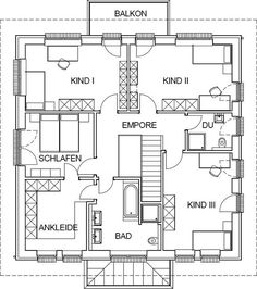 City villa mediterranean floor plan upper floor with 10362 m .- City villa mediterranean floor plan upper floor with 10362 m living space - Welcome To My House, Local Architects, Sims House, Space Architecture, Moving House, Kit Homes, Plan Design, Dream Decor, House Floor Plans