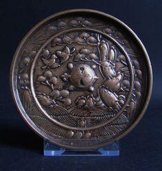 """Japanese """"Penglai"""" Bronze Mirror 14th Century Kamakura-Nambokucho"""