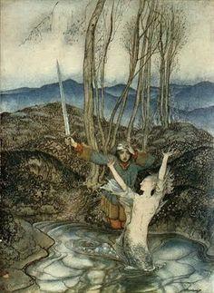 In The English and Scottish Popular Ballads, Child ballad # 42 (anche Clerck Colven o Earl Colvin -in italiano il giovane Colvin) ritroviamo la stessa ballata, anche qui la creatura fatata è una ninfa dell'acqua, ma il contesto è più delineato e prosaico: l'uomo è con la promessa sposa che lo prega di non andare a trovare la sua amante alla vigilia delle nozze.