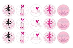 Free Printable Bottle Cap | It's A Small WWW: Free Printable Ballerina Bottle Cap Image Design