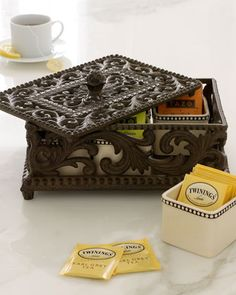 Five-Section Divided Tea Box by GG Collection at Neiman Marcus.