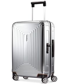 Samsonite Neopulse Carry On Hardside Spinner Suitcase - Metallic Silver Hardside Spinner Luggage, Trolley Case, Spinner Suitcase, Luggage Sets, Travel Luggage, Material Design, Baby Clothes Shops, Mens Gift Sets, Backpacks
