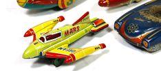 Mars Plane Marusan tin toy Japan space