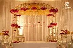 Indian Wedding Decor Company, Occasions by Shangri-La, provides indian wedding mandaps with full service event decor & floral for South Asian weddings. Wedding Hall Decorations, Marriage Decoration, Engagement Decorations, Wedding Themes, Wedding Ideas, Trendy Wedding, Decor Wedding, Wedding Table, Wedding Cakes