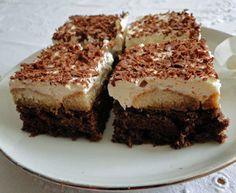 Řezy tiramisu Tiramisu, Nutella, Ethnic Recipes, Food, Sheet Cakes, Bakken, Meals, Yemek, Eten