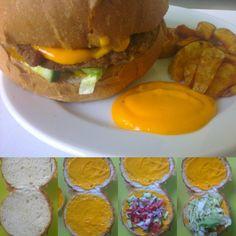 Cheddar sajtos hamburger!