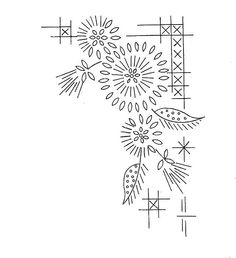 would be sweet on a collar Floral Embroidery Patterns, Hand Embroidery Designs, Vintage Embroidery, Embroidery Applique, Embroidery Stitches, Doodle Patterns, Card Patterns, Wreath Drawing, Embroidery Transfers